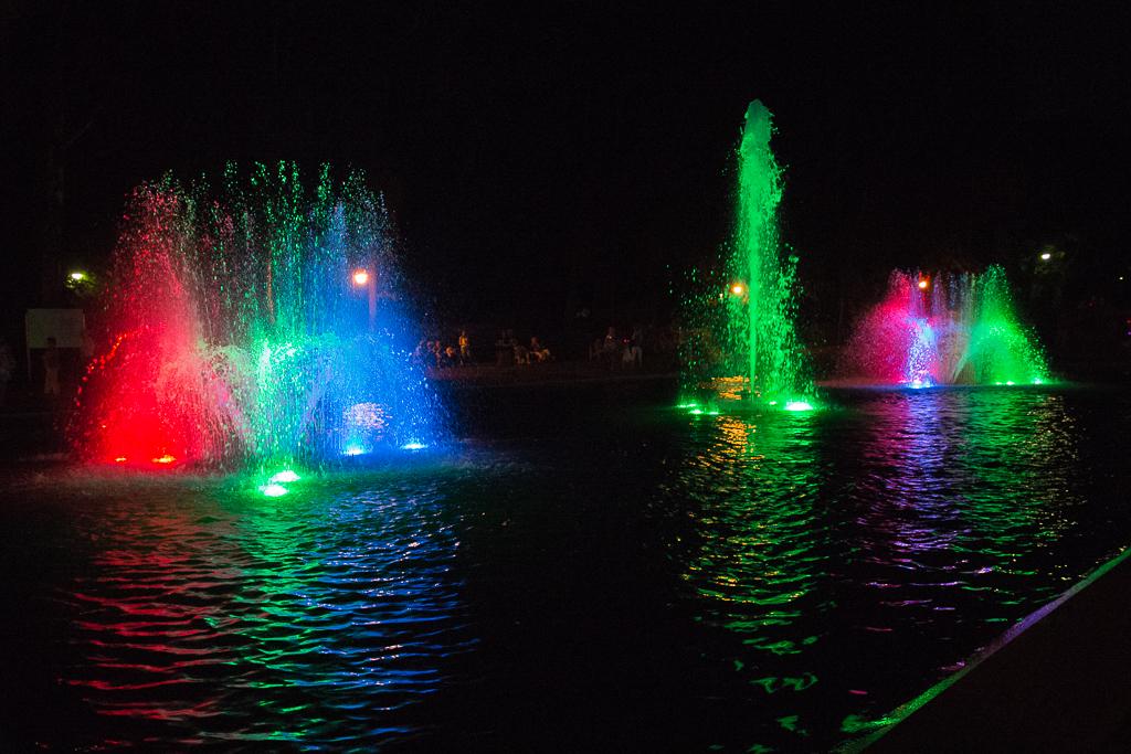 bialystok park fontanny Białystok   zachwycający w dzień i w nocy