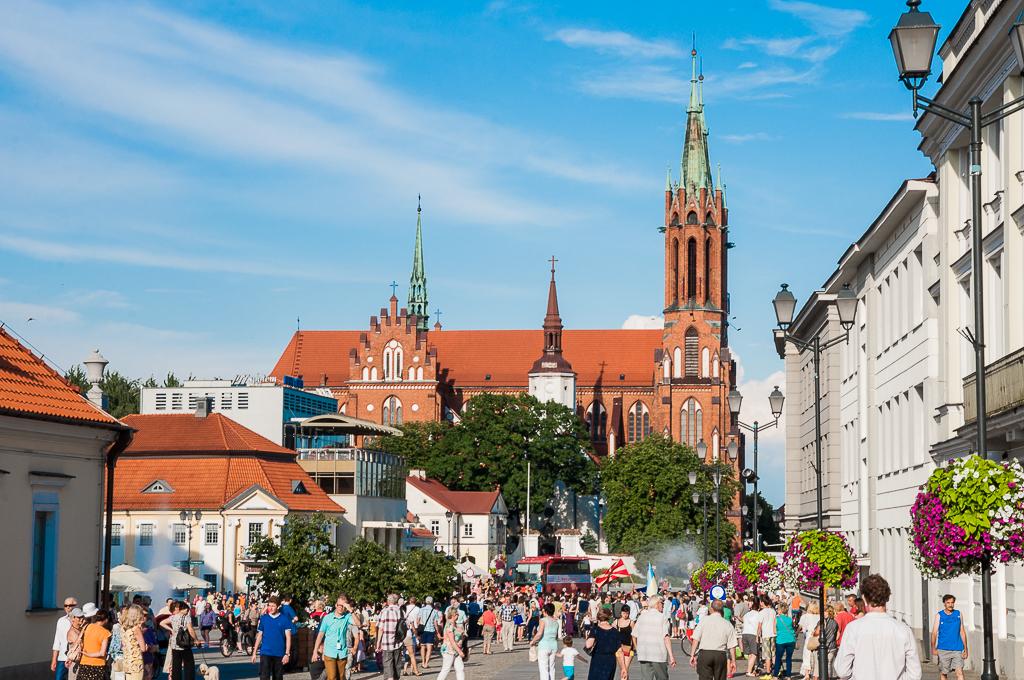 bialystok rynek katedra Białystok   zachwycający w dzień i w nocy