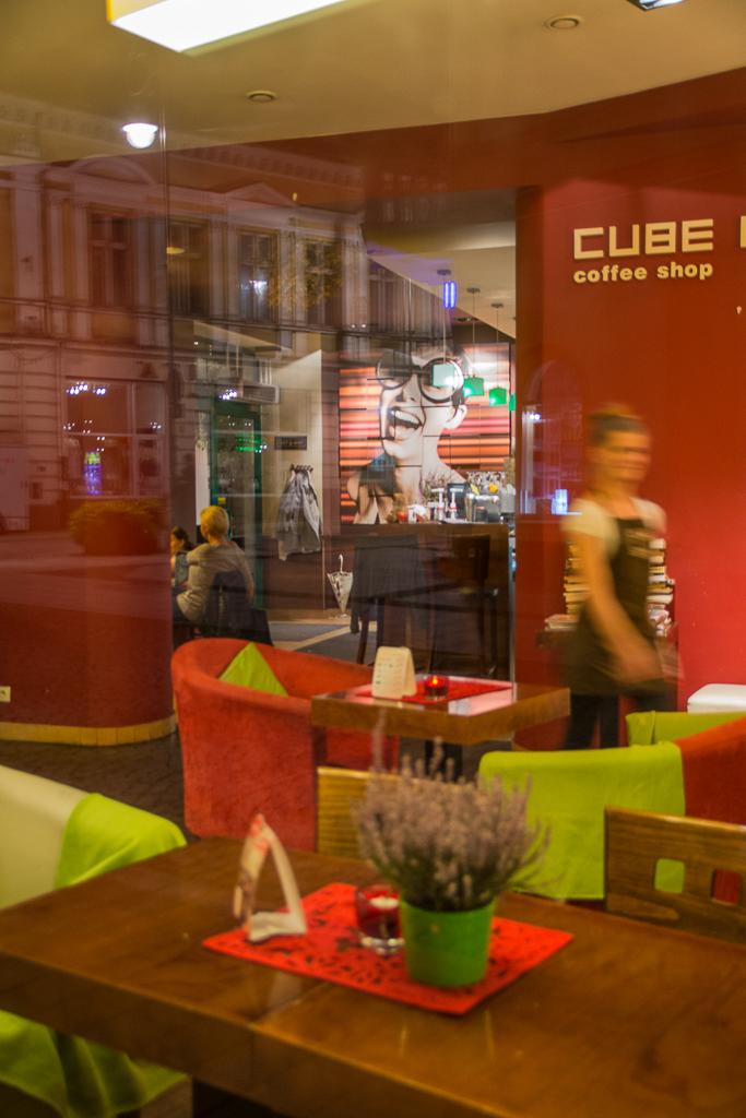 Kielce noca Kawiarnia Cube Kielce nocą