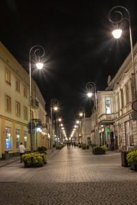 Kielce noca ulica Sienkiewicza 200x300 Kielce noca ulica Sienkiewicza