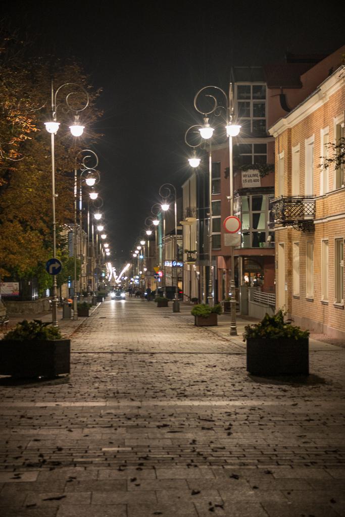 Kielce zdjecia nocne ulica Sienkiewicza Kielce nocą