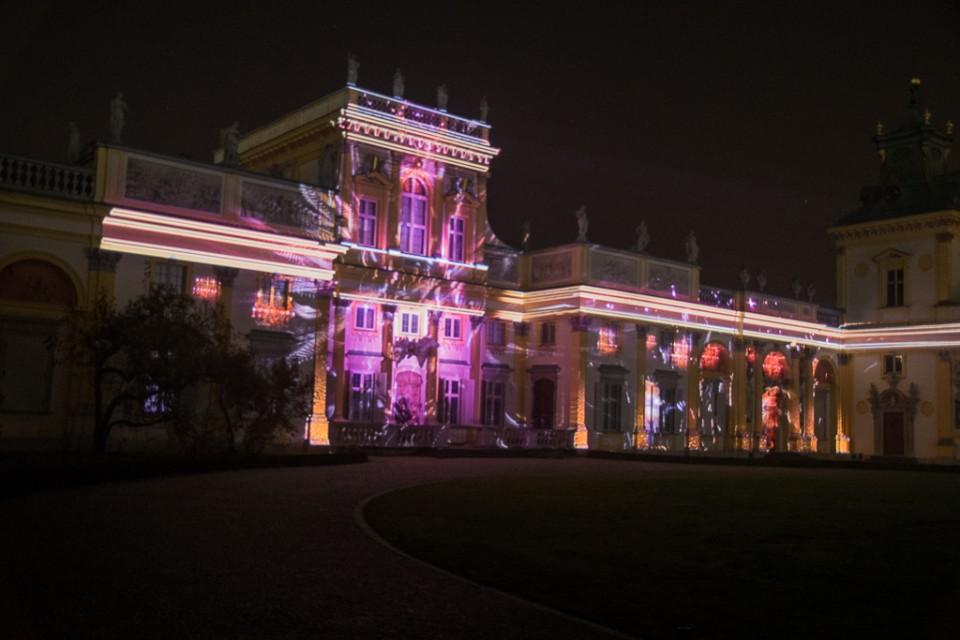 Wilanow mappingi na fasadzie Palacu 960x640 Festiwal światła w  Wilanowie
