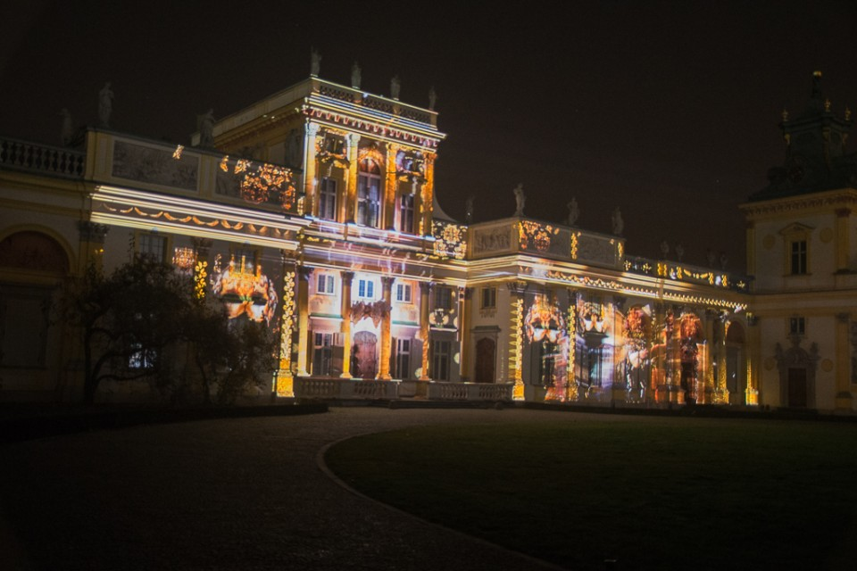 festiwal swiatla Wilanow iluminacje 960x640 Festiwal światła w  Wilanowie