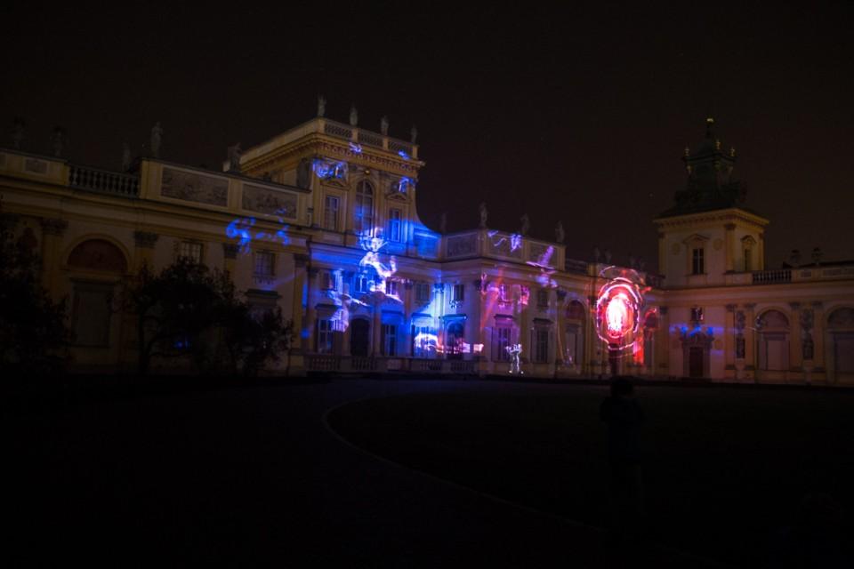festiwal swiatla Wilanow lasery 960x640 Festiwal światła w  Wilanowie