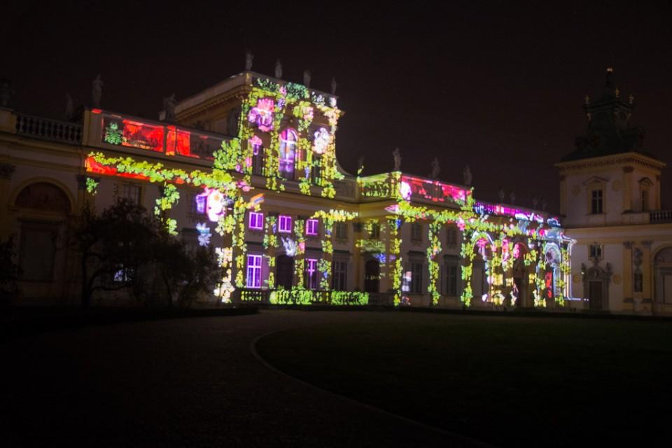 festiwal swiatla Wilanow mapping 960x640 Festiwal światła w  Wilanowie