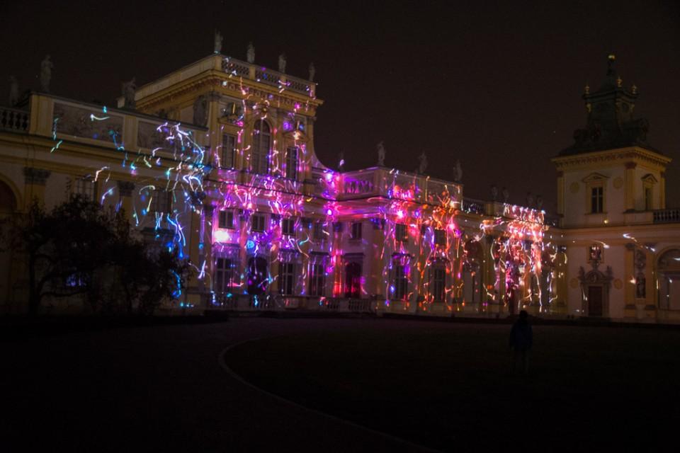 festiwal swiatla Wilanow pokaz1 960x640 Festiwal światła w  Wilanowie