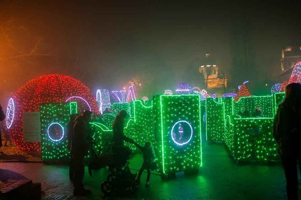 krolewski ogrod swiatla Wilanow 960x640 Festiwal światła w  Wilanowie