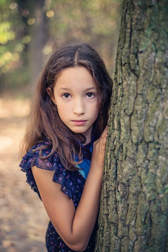 portret nastolatki sesja jesienna Sesja zdjęciowa w Lesie Kabackim