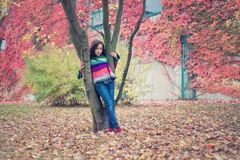 Sesja zdjęciowa plener jesienny
