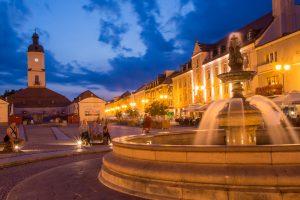 bialystok rynek fontanna noca 300x200 Białystok Rynek Kościuszki fontanna nocą