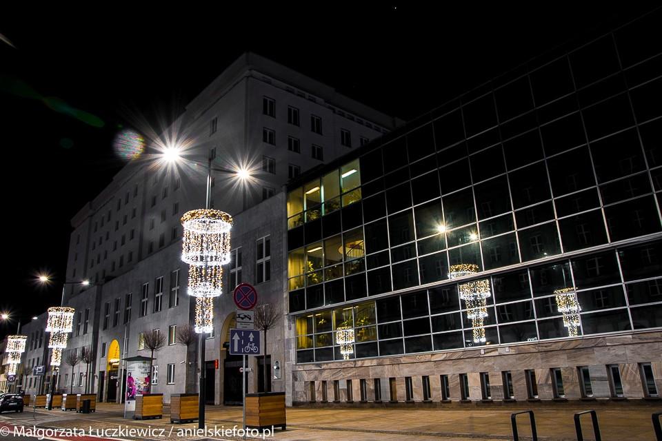 ulica Świetokrzyska iluminacje 960x640 Warszawskie iluminacje świąteczne