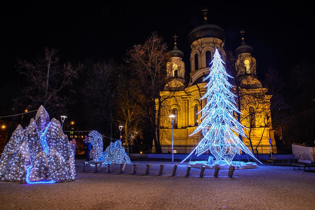 Plac Wileski-cerkiew-iluminacje