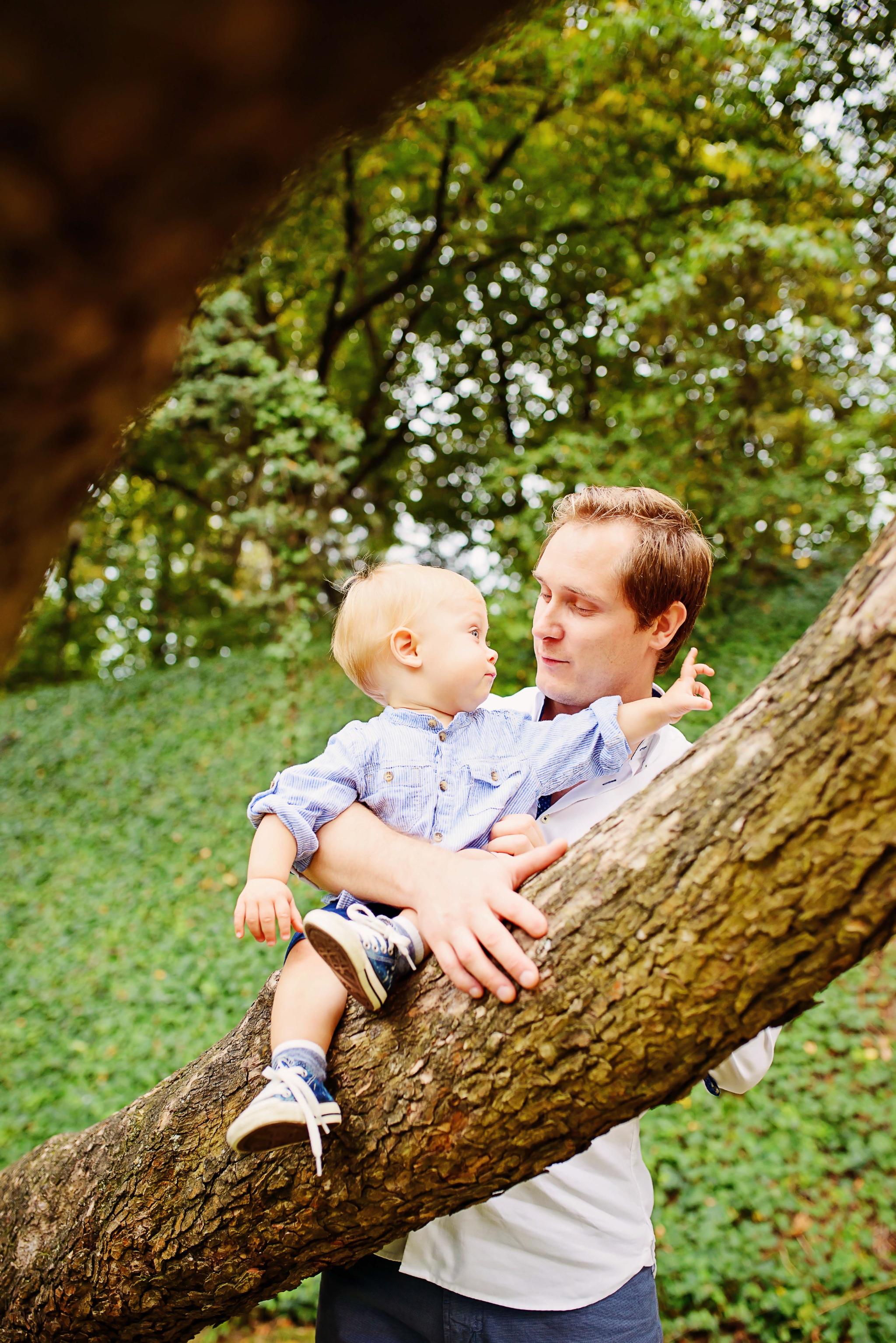 sesja z tatą Sesja z okazji pierwszych urodzin Aleksa